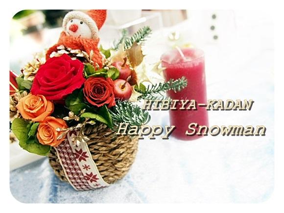 クリスマス happy-snowman