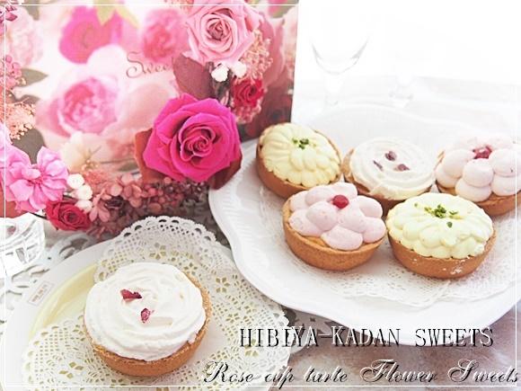 日比谷花壇 花咲くローズカップタルトは食べるフラワースイーツ!感想と口コミ