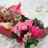 クリスマスフラワーギフト シーキューブお菓子セットを日比谷花壇でプレゼントする