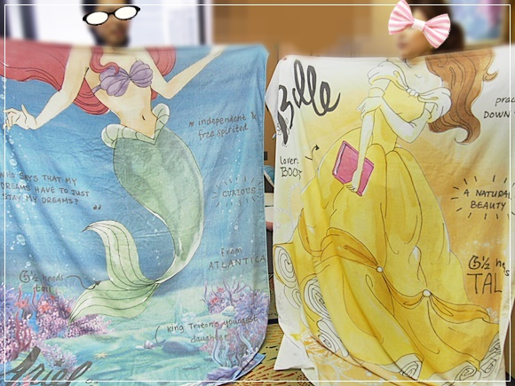 美女と野獣 ベルやアリエルになれるディズニーグッズ!ベルメゾン なりきりタオルケット