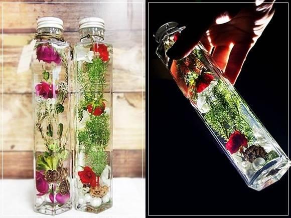 ヒーリングボトル 日比谷花壇 ハーバリウム