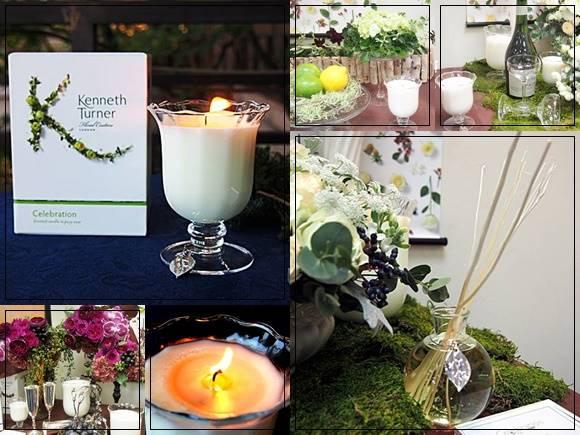 ケネスターナー アロマキャンドル&ディフューザーを日比谷花壇が独占販売
