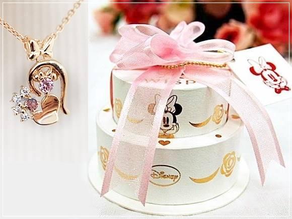 【ディズニー アクセサリー】ミッキー&ミニー ネックレス・指輪・ペアリング・ペアネックレスは女性が喜ぶプレゼント